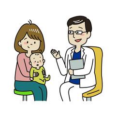 検診を受ける赤ちゃん