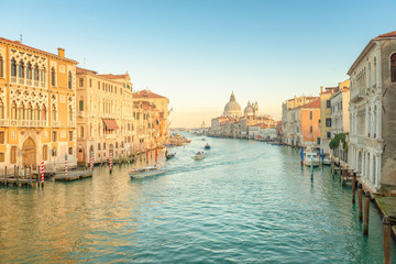 Foto auf Leinwand Venedig Sunset at the Grand Canal, Venice - Italy