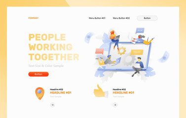 People Working Together Web Page Template