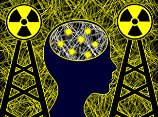 Electrosmog affects the brain. Electromagnetic radiation harms the human brain cells