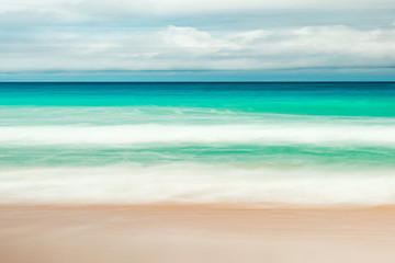 yellow warm sand and summer sea with sky and free space background