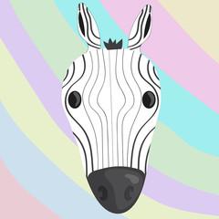 art zebra stripes black white rainbow animal