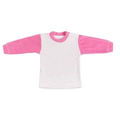 Children white and pink long sleeve top isolated on a white background