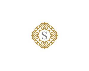 Monogram Letter S Frame Logo Icon 001