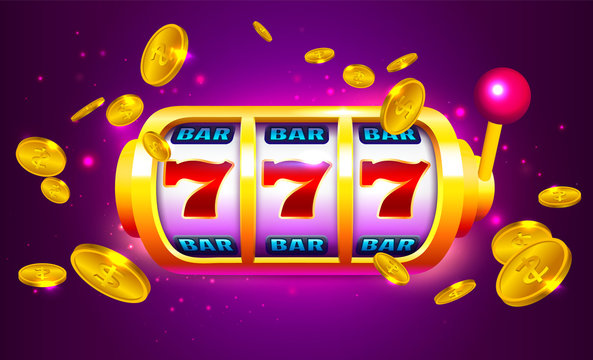 Spin and Win Slot Machine with Icons and Coins