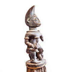 African ethnic wood carving from FANG ethnic - GABON