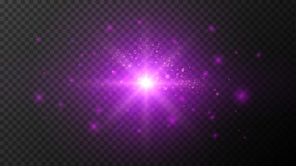 Ultraviolet Light Effects on Dark Transparent Bg