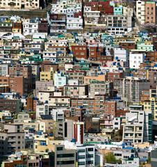 Dense Urban Cityscape and Landscape of Busan