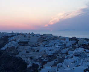 A Greek Village Sunset