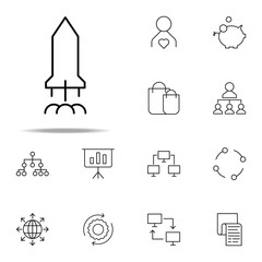 rocket icon. business icons universal set for web and mobile