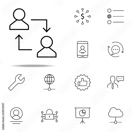 replacement of employee icon  business icons universal set