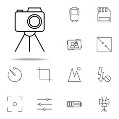camera stand icon. photography icons universal set for web and mobile