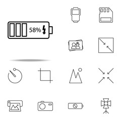 battery charging icon. photography icons universal set for web and mobile
