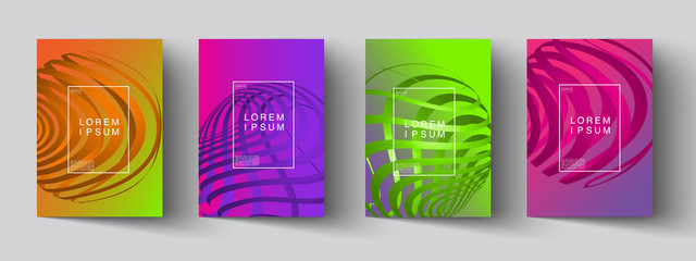 set of abstract new modern graphic elements. Dynamical colored forms and line with Gradient abstract banners with flowing liquid shapes