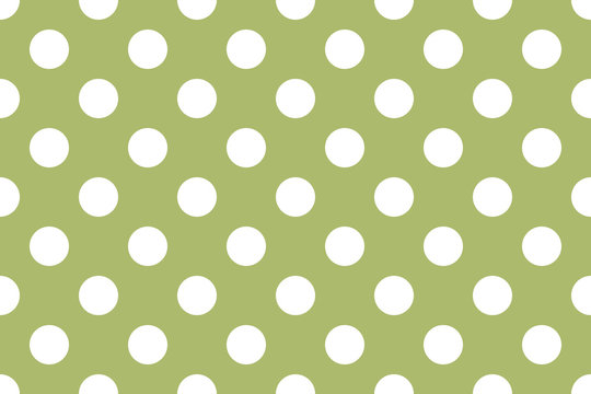 texture in large white polka dots, green retro vector background.