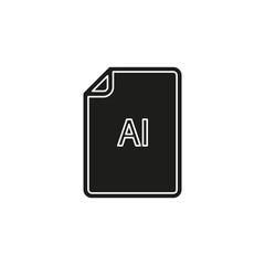 download AI document icon - vector file format symbol