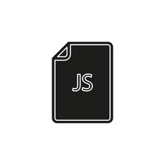 download JS document icon - vector file format symbol