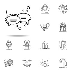 congratulatory messages dusk style icon. Birthday icons universal set for web and mobile