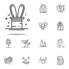 focus hare inhat dusk style icon. Birthday icons universal set for web and mobile