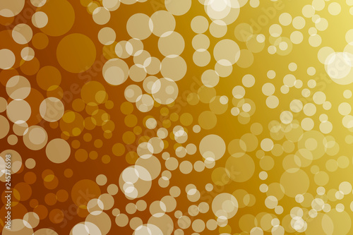 Golden bokeh background  Template for design, banner, flyer