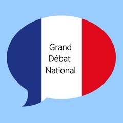 Wall Mural - Grand débat national