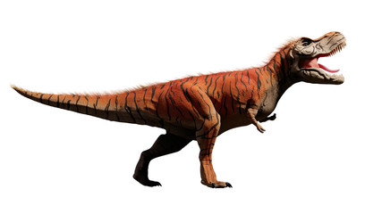 Tyrannosaurus rex, T-rex dinosaur from the Jurassic period (3d dino rendering isolated on white background)