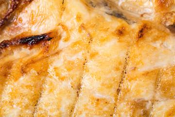 Delicious grilled dorado fish.