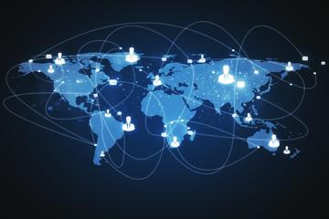 Fotobehang - Worldwide and communication concept