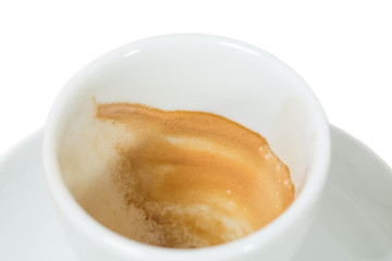 Coffee cup closeup.
