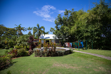 Enjoying a stroll around Romney Manor in St. Kitts