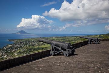 Enjoying the views around Brimstone Hill in St. Kitts