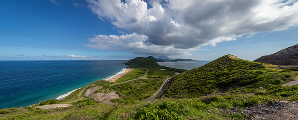 Breathtaking views from Timothy Hill in St. Kitts