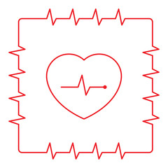 heart rhythm frame and heart symbol
