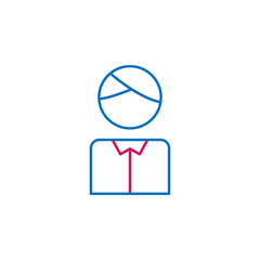 Elections, candidate outline colored icon. Can be used for web, logo, mobile app, UI, UX