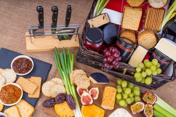 Cheese Pickle and Crackers Hamper