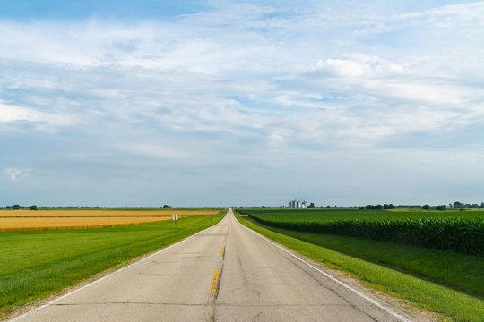 Rural two lane highway