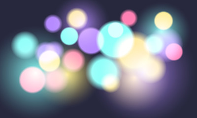 Abstract colorful bokeh background