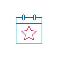 Elections, elections day outline colored icon. Can be used for web, logo, mobile app, UI, UX