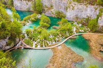 Amazing cascades and emerald crystal clear lakes, Plitvice National Park, Croatia