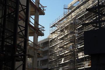 Baustelle, Wohnungsbau in der Großstadt