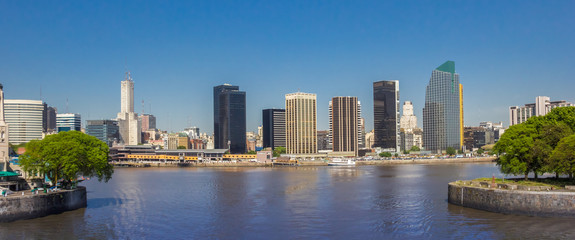 Panorama of the skyline of modern Buenos Aires, Argentina