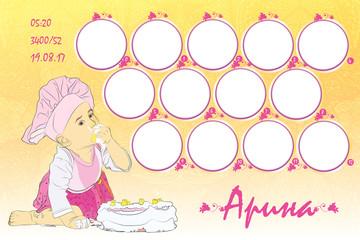 photo frame for a child's birthday. twelve