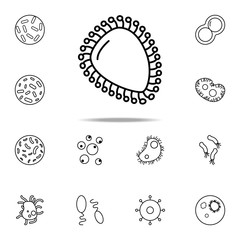 virus icon. Bacteria icons universal set for web and mobile
