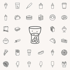 carbonated juice in glass icon. Fast food icons universal set for web and mobile