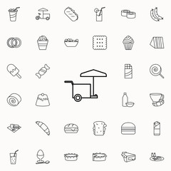 bench on wheels icon. Fast food icons universal set for web and mobile