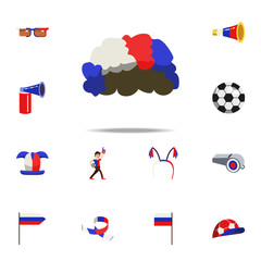 fan wig icon. Russian Fan atributs icons universal set for web and mobile