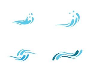 Water wave logo illustration