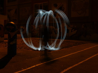 Sphere Night Lightpainting Photography