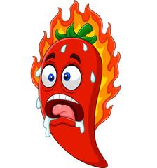 Cartoon chili pepper
