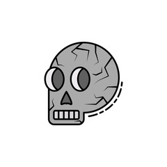 skull, skeleton, anatomy, bone, head icon. Element of history color icon for mobile concept and web apps. Color skull, skeleton, anatomy, bone, head icon can be used for web